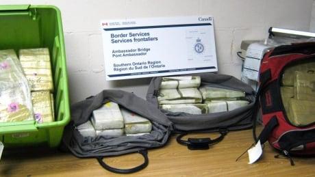 Suspected cocaine seized by CBSA at Ambassador Bridge on July 27, 2015
