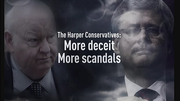 A still from an ad paid for by the labour-backed political action committee Engage Canada.