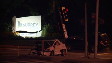 Motorist clinging to life after serious crash in Surrey