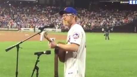 J.R. Shore at Mets game