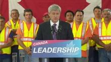 Stephen Harper, Kathleen Wynne trade barbs over pensions