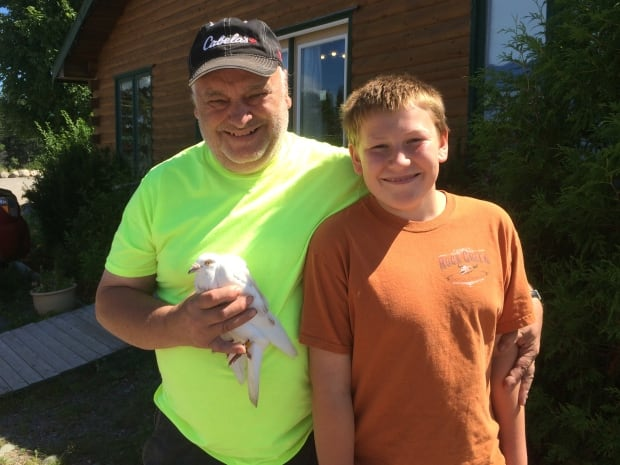 Ron MacKinnon, who released the rock dove in Moncton, thanked Peter Gravlin for rescuing the bird.