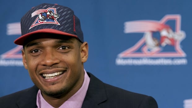 Michael Sam was feted when he signed with Montreal in May, but now says it was never really his desire to play in the CFL.