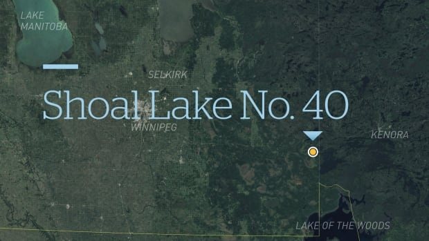 The Shoal Lake 40 First Nation straddles the Manitoba-Ontario border.