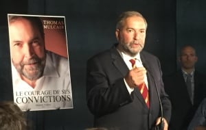 Tom Mulcair launches book in Montreal