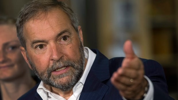 NDP Leader Tom Mulcair said he would take part in the Munk Debates if it had a bilingual format.