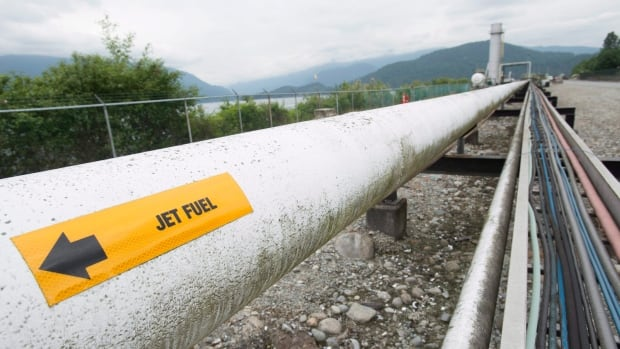 A pipeline at the Kinder Morgan Trans Mountain Expansion Project in Burnaby.