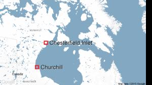 Chesterfield Inlet, Nunavut, map
