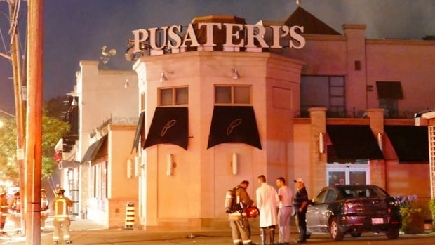 Pusateri's Fine Foods's Avenue Road store was damaged after a Saturday night fire.