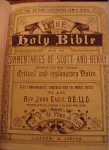 Fenemore family Bible