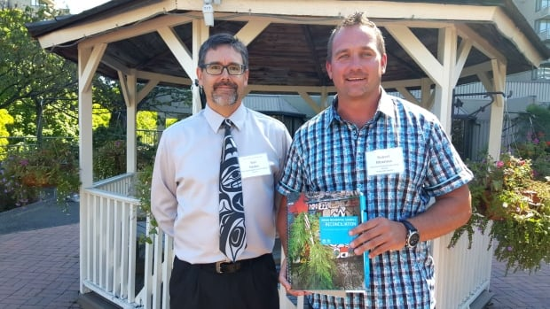 Ken Heales (left) and Robert Moxness piloted the new residential school curriculum  material in their classrooms last year.