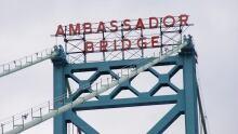 Ambassador Bridge seen from Windsor side