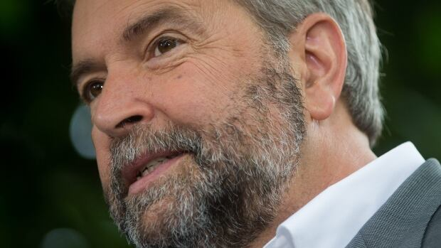 NDP Leader Tom Mulcair announced a plan to give manufacturing a boost with a $40 million innovation credit on Wednesday, Aug. 26. 2015.