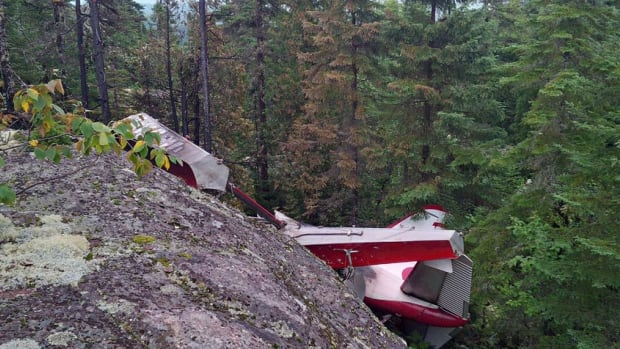 This de Havilland Beaver float plane crashed Sunday afternoon in a remote wooded area near Les Bergeronnes, Que., after taking off from Long Lake, near Tadoussac.