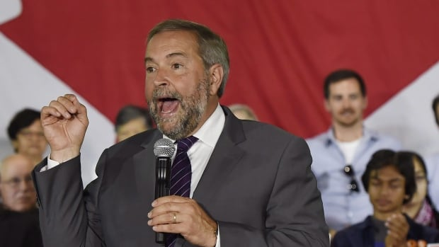 Tom Mulcair faced some heat online Monday after bailing on a women's issues debate that he had previously agreed to attend.