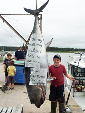 Koen Norton with tuna