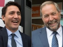 Former prime minister Paul Martin hit the campaign trail with Liberal Leader Justin Trudeau this week.
