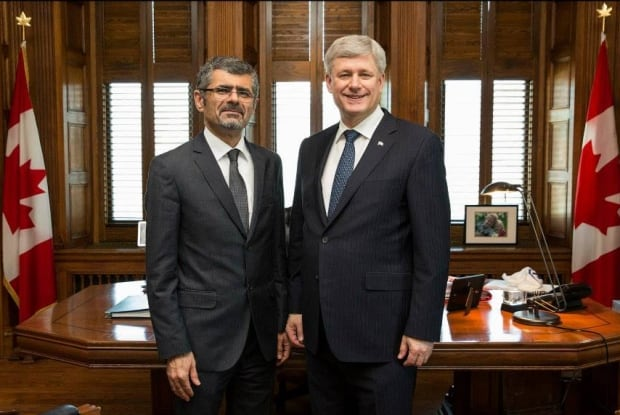 Saren Azer with Stephen Harper