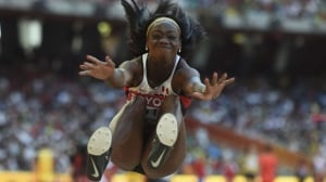 World track and field championships, with Christabel Nettey in long jump