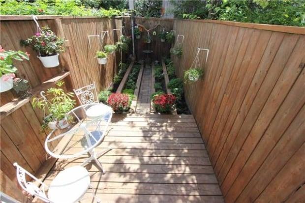 back garden nail house