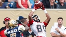 Stampeders move atop CFL standings with rout of Blue Bombers