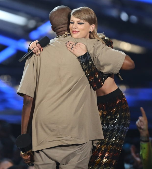 MTV Video Music Awards Kanye West and Taylor Swift
