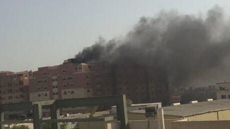 Mideast Saudi Fire