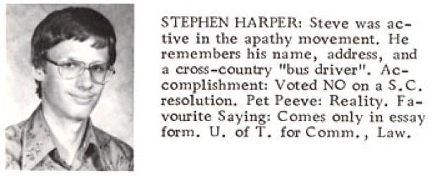 Stephen Harper yearbook