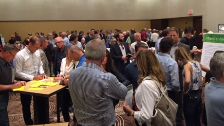 Crowd at Calgary climate change open house