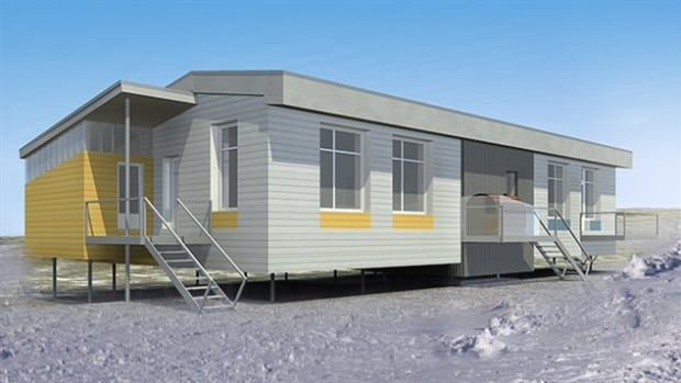 A concept image of new prototype housing, designed specifically for northern climates and Inuit culture.