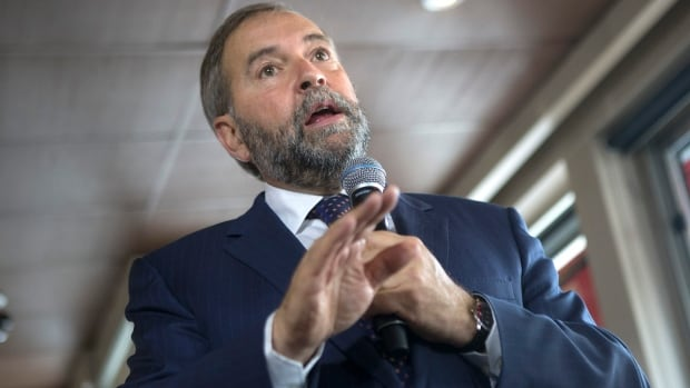 NDP Leader Tom Mulcair said Thursday that the Canada and Quebec pension plans need to be bolstered to ensure retirement security for seniors.