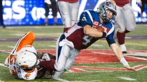 Travis Lulay, Lions quarterback, lost to injury in win over Alouettes