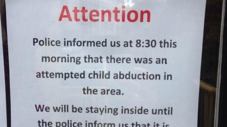 attempted child abduction warning posted at Pooh Corner Daycare