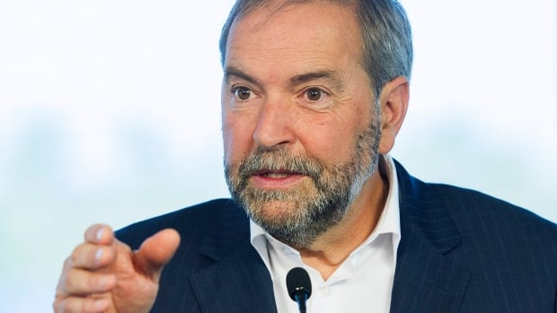 NDP Leader Tom Mulcair says Conservative policies have resulted in the loss of hundreds of thousands of manufacturing jobs in Canada.