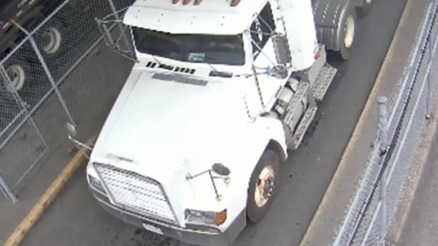 Police released images of the theft caught on surveillance tape at the Port of Montreal.