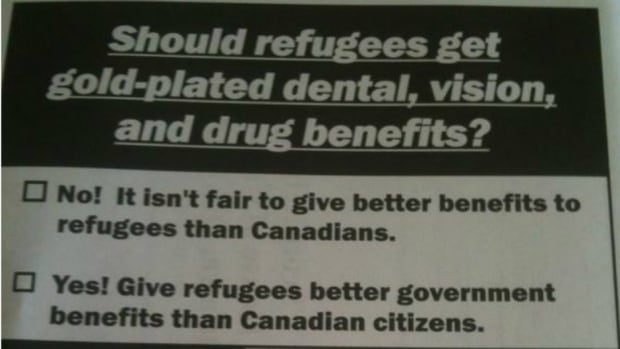 These surveys, which ask about health-care cuts to refugees, were supposedly mailed to various ridings held by Conservative MPs over the past few years.