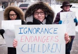 Sex education, Ontario protests