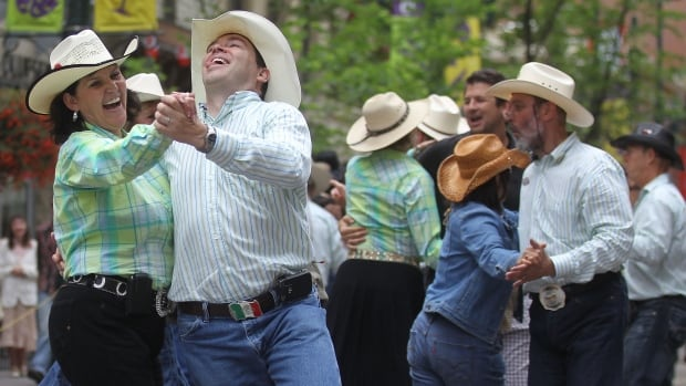 The Calgary Stampede is a time when 'loads of people get pretty darn friendly,' says Jennifer Allford.