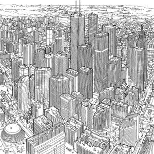 Steve McDonald's drawing of Toronto