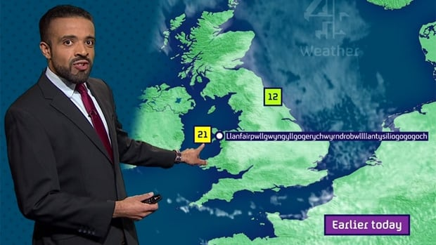 British meteorologist Liam Dutton is the toast of the web today for somehow managing to pronounce Llanfairpwllgwyngyllgogerychwyrndrobwllllantysiliogogogoch, a village in north west Wales, without missing a beat.