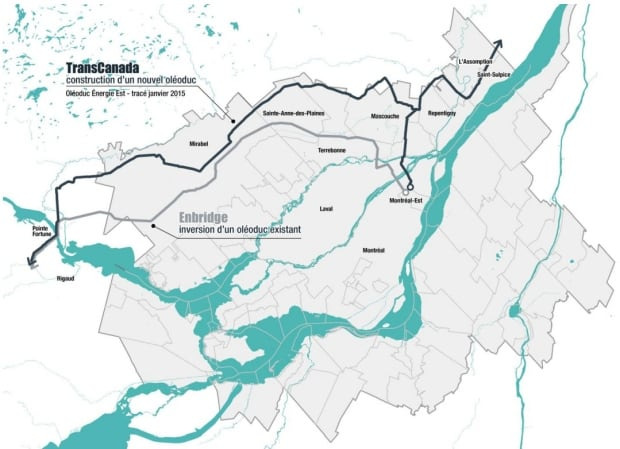 TransCanada pipeline possible route