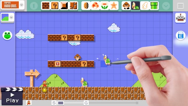 Super Mario Maker gives players the tools to make Mario game levels on their own, in celebration of the series's 30th anniversary.