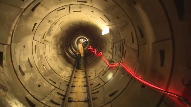 The Fraser River drinking water tunnel