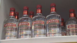 More lcbo bottles seized by police after man buys vodka bottle filled with water toronto - Picture of smirnoff vodka bottle ...