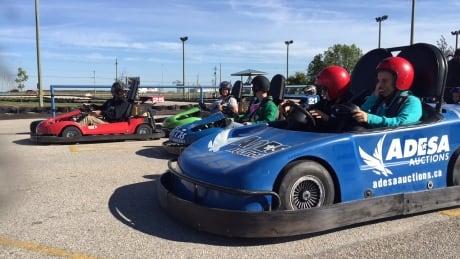 Go kart challenge raises money for huntington 39 s disease for Go kart interieur montreal