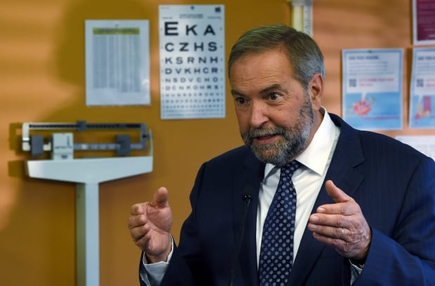 Tom Mulcair NDP leader federal election 2015