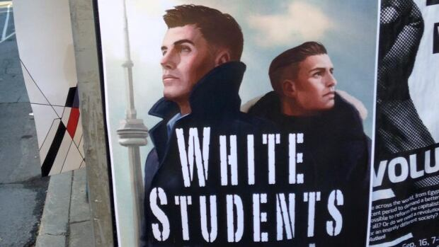 In September 2015, posters like these that advertised a White Students Union popped up on several Ontario university campuses. The posters and Facebook pages with similar names were later deemed to be a hoax.