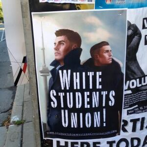 Toronto university white students' union poster