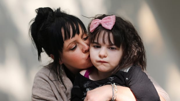 Sandra Wilkinson and her 9-year old daughter Mia at Canadian Cannabis Clinics in St. Catharines on Monday, September 14, 2015. Mrs. Wilkinson brought Mia to this Ontario clinic because she could not get her prescription for medical marijuana renewed at their home in Alberta. Mia has been taking medical marijuana for two years. She went from having 100 seizures a day to being seizure-free for about a year and a half.