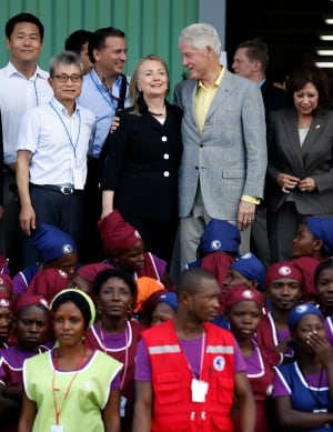 Clintons in Haiti for Caracol Industrial Park launch